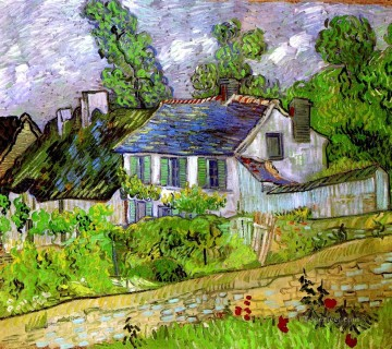 Vincent Van Gogh Painting - Houses in Auvers Vincent van Gogh