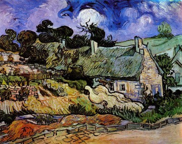Vincent Van Gogh Painting - Houses with Thatched Roofs Cordeville Vincent van Gogh