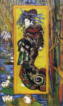 Gogh Canvas - Japonaiserie Oiran after Kesai Eisen Vincent van Gogh