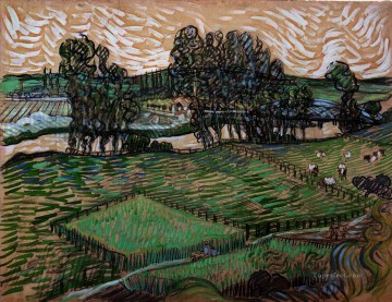 Vincent Van Gogh Painting - Landscape with Bridge across the Oise Vincent van Gogh