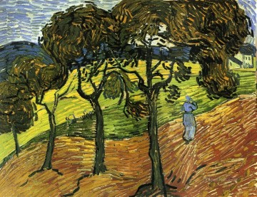 Landscape with Trees and Figures Vincent van Gogh Oil Paintings