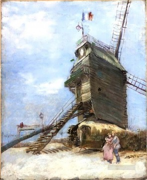 Le Moulin de la Galette 4 Vincent van Gogh Oil Paintings