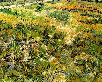 Meadow Art - Meadow in the Garden of Saint Paul Hospital Vincent van Gogh
