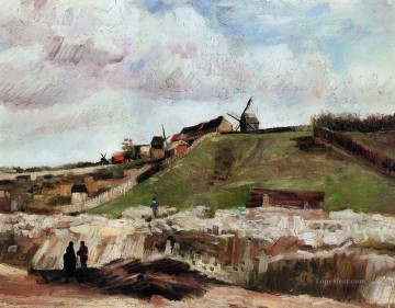 Vincent Van Gogh Painting - Montmartre the Quarry and Windmills Vincent van Gogh