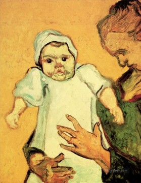 Vincent Van Gogh Painting - Mother Roulin with Her Baby 2 Vincent van Gogh