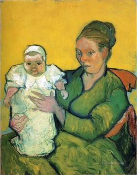 Vincent Van Gogh Painting - Mother Roulin with Her Baby Vincent van Gogh