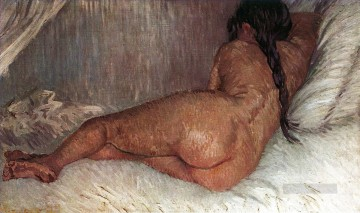 Nude Woman Reclining Seen from the Back Vincent van Gogh Oil Paintings
