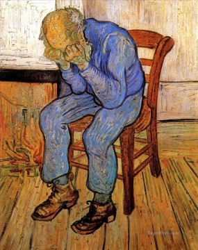 Old Man in Sorrow On the Threshold of Eternity Vincent van Gogh Oil Paintings