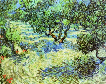 Olive Grove Bright Blue Sky Vincent van Gogh Oil Paintings