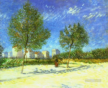 Vincent Van Gogh Painting - On the Outskirts of Paris Vincent van Gogh