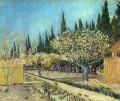 Orchard in Blossom Bordered by Cypresses 2 Vincent van Gogh