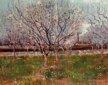 Orchard in Blossom Plum Trees Vincent van Gogh Oil Paintings
