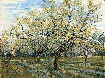 Vincent Van Gogh Painting - Orchard with Blossoming Plum Trees Vincent van Gogh