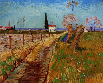 Vincent Van Gogh Painting - Path Through a Field with Willows Vincent van Gogh