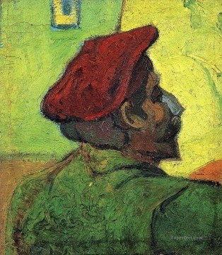 Paul Gauguin Man in a Red Beret Vincent van Gogh Oil Paintings