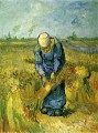 Peasant Woman Binding Sheaves after Millet Vincent van Gogh