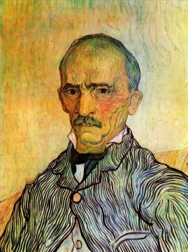 Vincent Van Gogh Painting - Portrait of Trabuc an Attendant at Saint Paul Hospital Vincent van Gogh