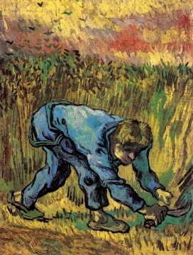 Reaper with Sickle after Millet Vincent van Gogh Oil Paintings