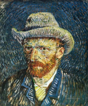 hat Oil Painting - Self Portrait with Felt Hat Vincent van Gogh