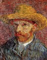Self Portrait with Straw Hat 4 Vincent van Gogh