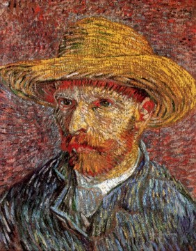 Vincent Van Gogh Painting - Self Portrait with Straw Hat 4 Vincent van Gogh