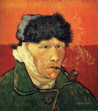 Self portrait with bandaged ear Vincent van Gogh Oil Paintings