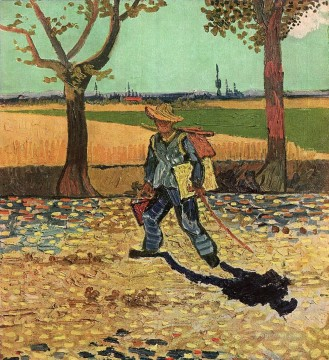 Gogh Canvas - Selfportrait on the Road to Tarascon Vincent van Gogh