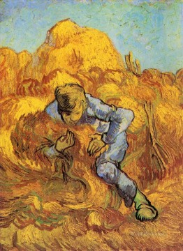 Gogh Canvas - Sheaf Binder The after Millet Vincent van Gogh