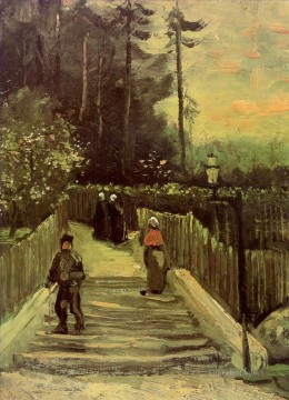 Vincent Van Gogh Painting - Sloping Path in Montmartre Vincent van Gogh