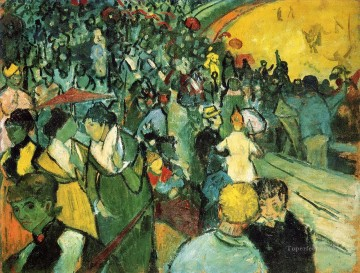 Vincent Van Gogh Painting - Spectators in the Arena at Arles Vincent van Gogh