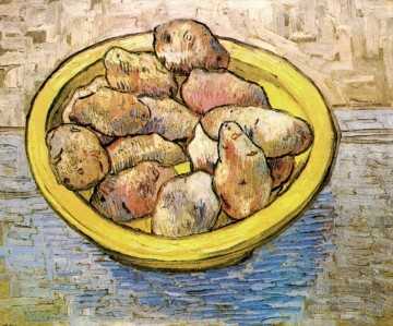 Yellow Painting - Still Life Potatoes in a Yellow Dish Vincent van Gogh