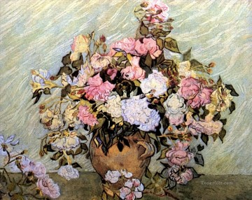 Still Life Vase with Roses Vincent van Gogh Oil Paintings