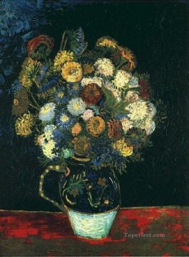 Inn Painting - Still Life Vase with Zinnias Vincent van Gogh