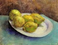 Still Life with Lemons on a Plate Vincent van Gogh