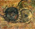 Still Life with Two Sunflowers 2 Vincent van Gogh