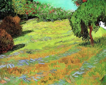 Sunny Lawn in a Public Park Vincent van Gogh Oil Paintings