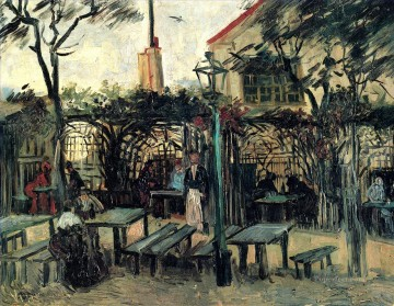 Terrace of a Cafe on Montmartre La Guinguette Vincent van Gogh Oil Paintings