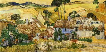 Thatched Houses against a Hill Vincent van Gogh Oil Paintings