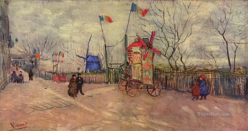 The Allotments at Montmartre Vincent van Gogh Oil Paintings