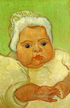 Vincent Van Gogh Painting - The Baby Marcelle Roulin Vincent van Gogh