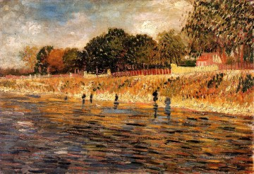 monet banks of the seine Painting - The Banks of the Seine Vincent van Gogh