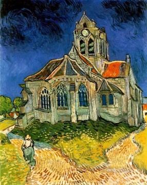 Vincent Van Gogh Painting - The Church at Auvers Vincent van Gogh