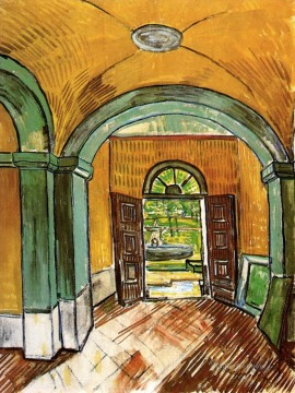 Vincent Van Gogh Painting - The Entrance Hall of Saint Paul Hospital Vincent van Gogh