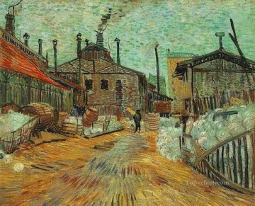 The Factory at Asnieres Vincent van Gogh Oil Paintings