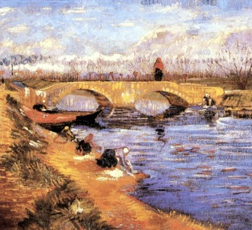 Vincent Van Gogh Painting - The Gleize Bridge over the Vigneyret Canal Vincent van Gogh