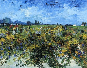 Vincent Van Gogh Painting - The Green Vinyard Vincent van Gogh