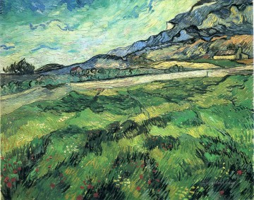 Vincent Van Gogh Painting - The Green Wheatfield behind the Asylum Vincent van Gogh