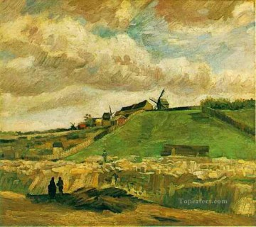 Gogh Canvas - The Hill of Montmartre with Quarry Vincent van Gogh