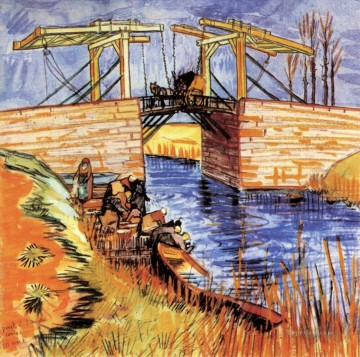 The Langlois Bridge at Arles 2 Vincent van Gogh Oil Paintings