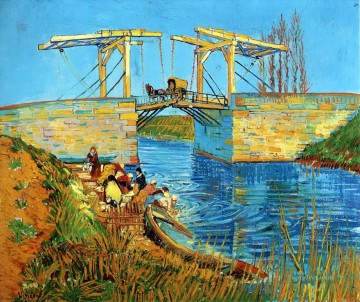 Vincent Van Gogh Painting - The Langlois Bridge at Arles with Women Washing 2 Vincent van Gogh